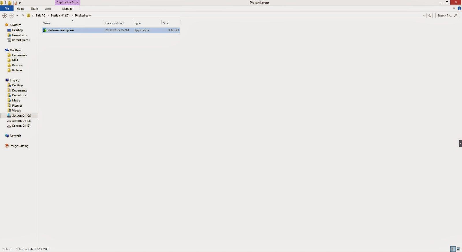 ขั้นที่ 1 ดับเบิลคลิกที่ไฟล์ startmenu-setup เพื่อติดตั้งโปรแกรม
