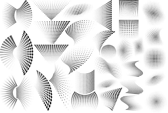 koleksi-dot-raster-vector