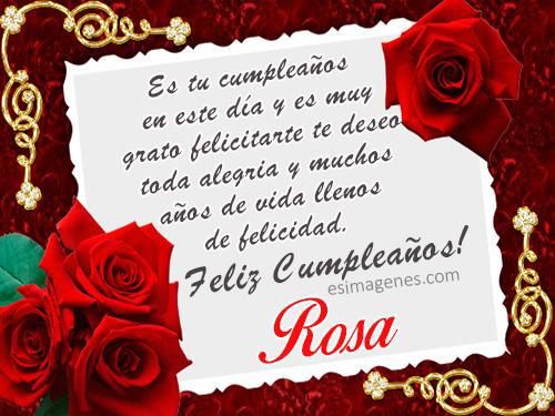 Feliz Cumpleaños Rosa - Imágenes Tarjetas Postales con