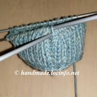 ブリオッシュ・ステッチの輪編み