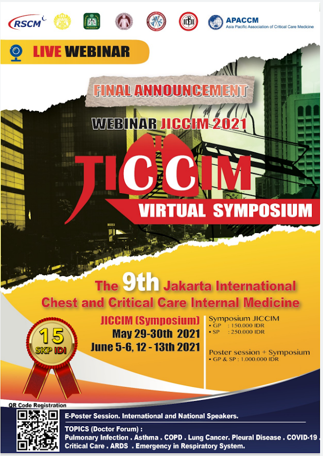 (15 SKP IDI) The 9th JICCIM 2021 Virtual Symposium  (Jakarta International Chest and Critical Care Internal Medicine)