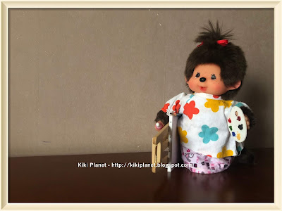 kiki monchhichi tenue peintre vinatage