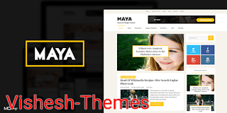 Maya - Professional Blog Style Blogger Template