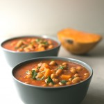 Pumpkin Chickpea Stew: This pumpkin and chickpea stew are to die for. It is a straightforward but very successful recipe, ideal for when it is cold.