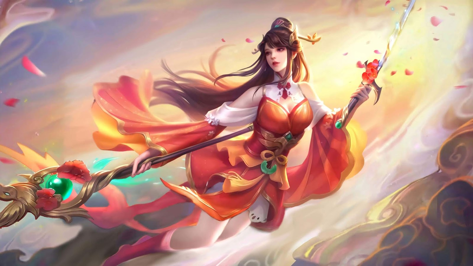 Wallpaper Odette Auspicious Charm Skin Mobile Legends full HD for PC