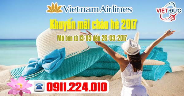 Đặt vé khuyến mãi Vietnam Airlines chào hè 2017