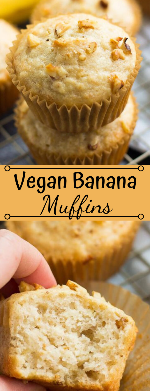 QUICK & EASY VEGAN BANANA MUFFINS #muffins #banana #diet #healthy #snack
