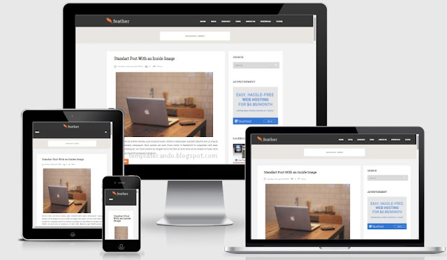 Feather Responsive Blogger Template