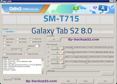 سوفت وير هاتف Galaxy Tab S2 8.0 موديل SM-T715 روم الاصلاح 4 ملفات تحميل مباشر