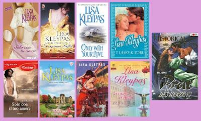 portadas de la novela romántica histórica Solo con tu amor, de Lisa Kleypas