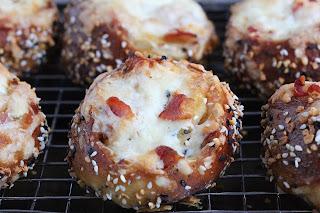 Bacon Cream Cheese Pretzel Buns