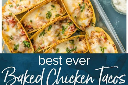 OVEN BAKED CHICKEN TACOS RECIPE