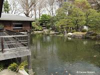 Tea House and pond - Shosei-en Garden, Kyoto, Japan
