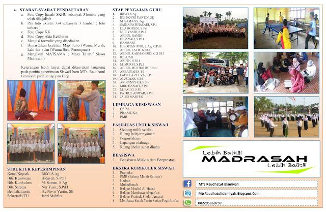 Contoh Brosur Sekolah/Madrasah dari Ms.Word