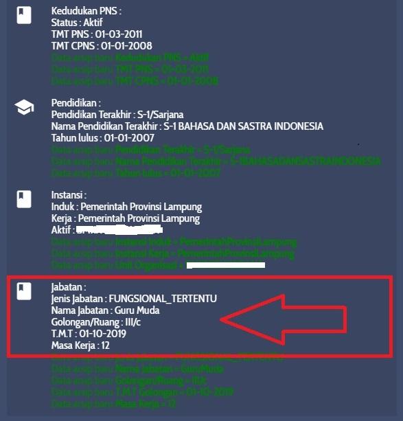 Penyebab TIDAK VALID pada info GTK 2020/2021