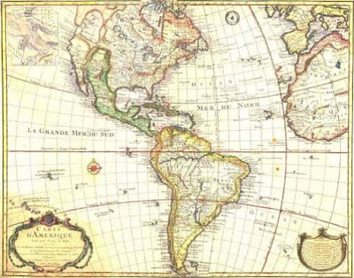 Map of the Americas 18th Century