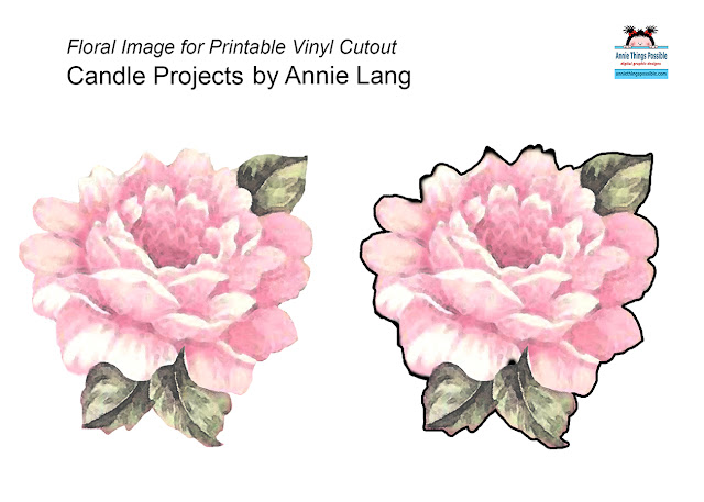 Use Annie Lang's Free Pattern to make decorative candles with vinyl cutouts