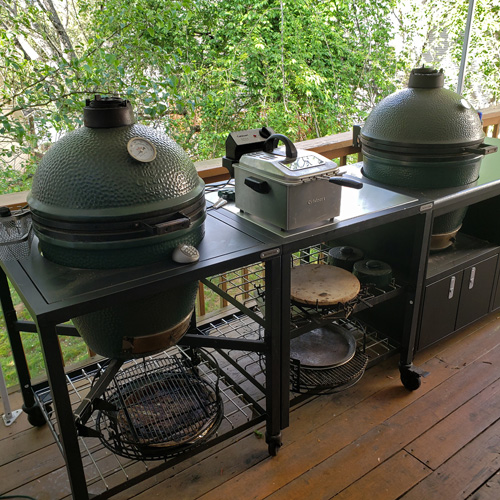 Big Green Egg Modular Nest and Challenger Designs Torch 48