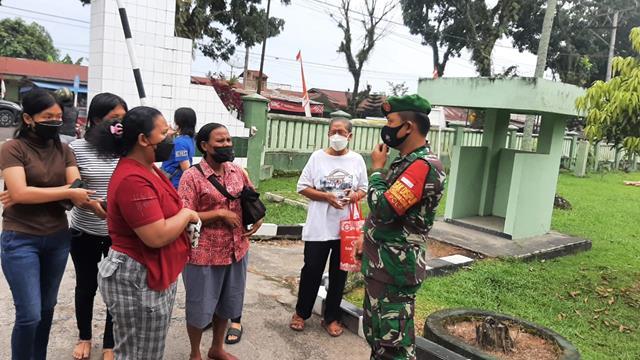 Dengan Komunikasi Sosial Personel Jajaran Kodim 0207/Simalungun Jalin Silaturahmi Dengan Warga Masyarakat
