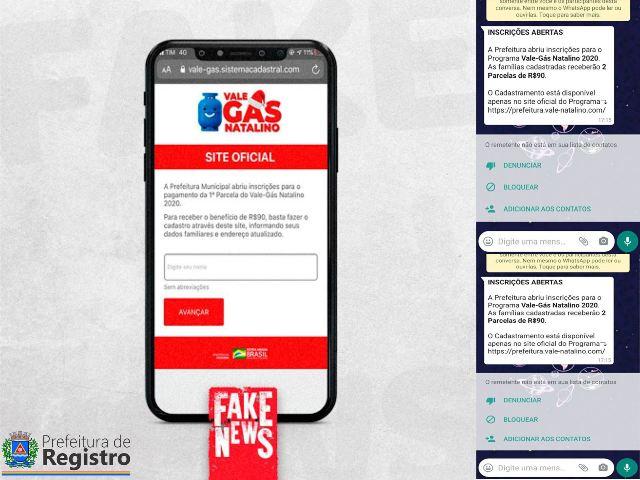 Prefeitura de Registro-SP alerta para novo fake news