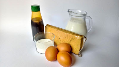 ingredientes flan de turron