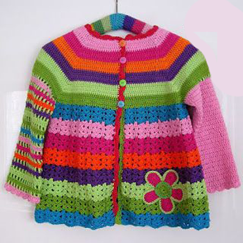 Flower Cardigan - Free Pattern