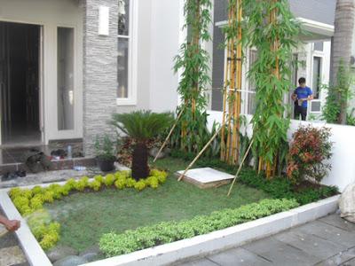 Jasa Tukang Taman Surabaya taman rumah sederhana tapi menarik