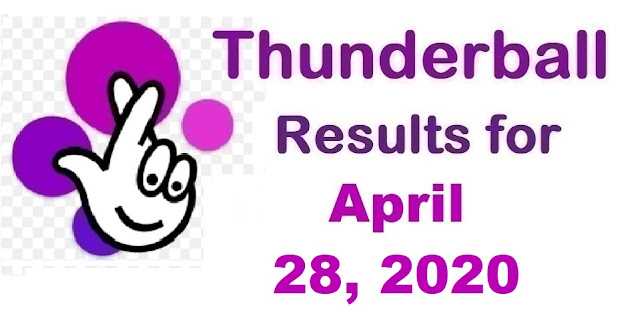 Thunderball Results for Tuesday, April 28, 2020