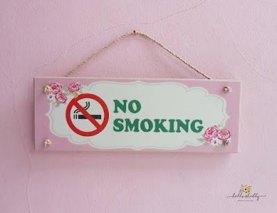 jual wall decor no smoking ~ hello shabby : furniture