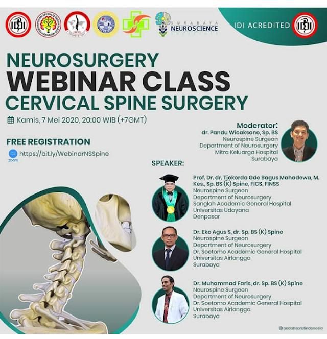 Neurosurgery Webinar Class: Cervical Spain Surgery