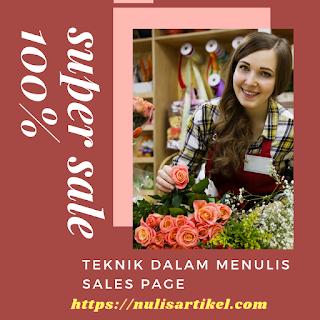 Teknik Dalam Menulis Sales Page