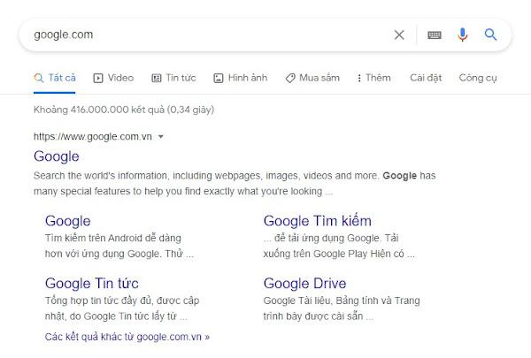Một số Lời khuyên  cơ bản Làm thế nào để có Sitelinks Google