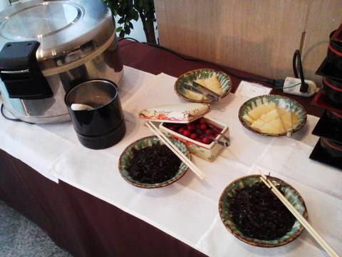 ビュッフェコーナー(ご飯・漬物) サザンクロス