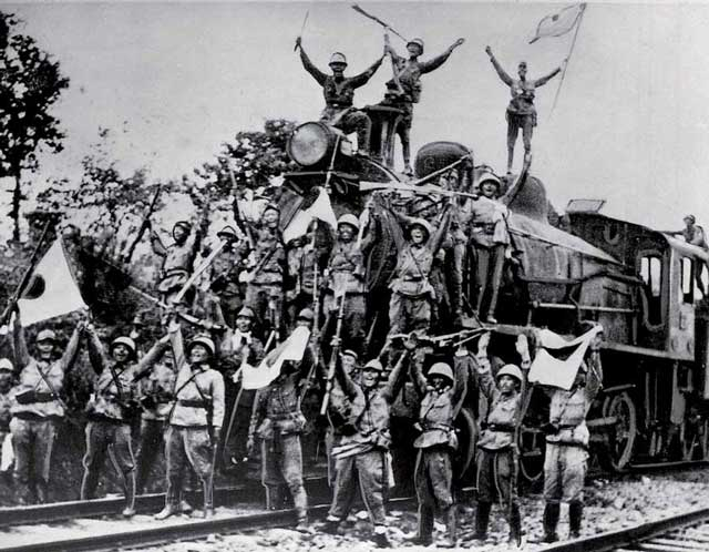 Japanese troops in Johor, January 1942 worldwartwo.filminspector.com
