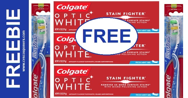 FREE Colgate Toothbrush & Toothpaste at CVS
