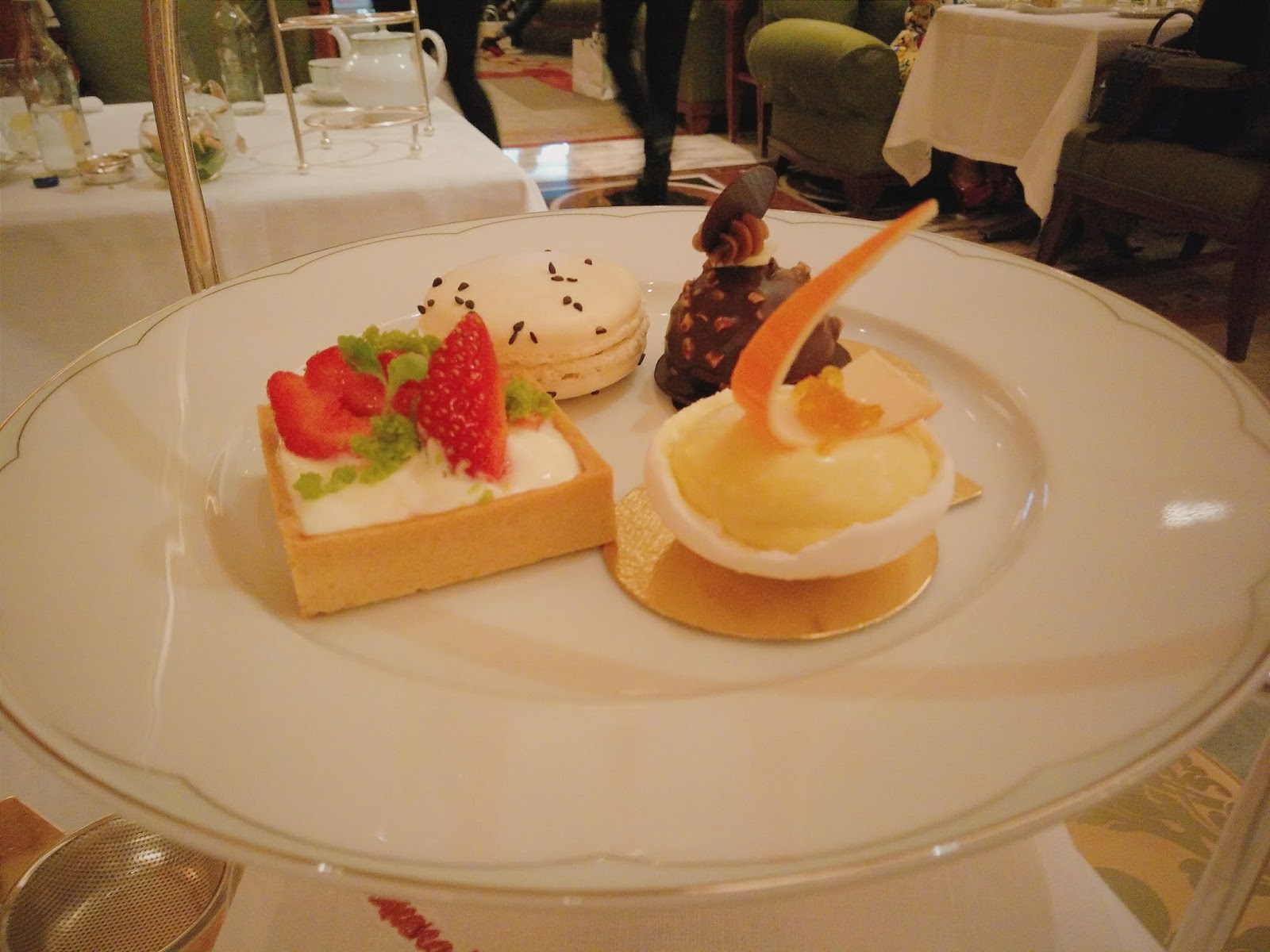 Afternoon Tea at the Dorchester pastries