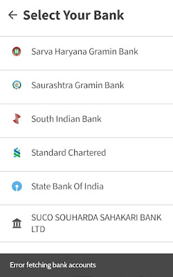 Error fetching bank accounts