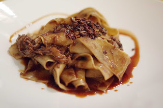 Pappardelle wild boar with cocoa