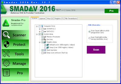 Smadav Rev 10.7 2016 Terbaru Full Keygen