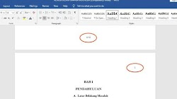 Cara Membuat Nomor Halaman dengan Berbeda Format di MS Word