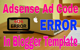 Google Adsense async code error in blogger template