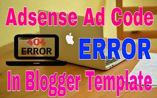 Google Adsense async code error in blogger template