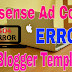 How to Fix Async XML Parsing Error When Saving Google Adsense Code in Blogger