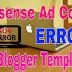 How to Fix Async XML Parsing Error When Saving Google Adsense Code in Blogger