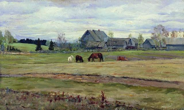Исаак Ильич Левитан - Пасмурный день. 1890