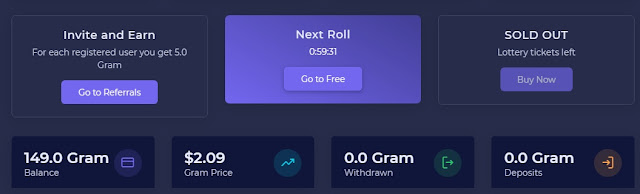 Gram free coin से कमाएं डेली 20$ for totaly free