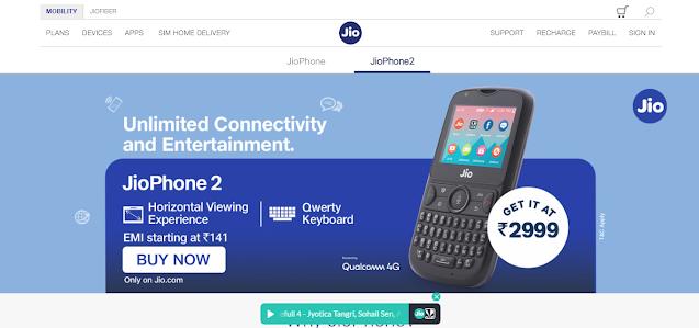 Jio Phone under 141 rupee