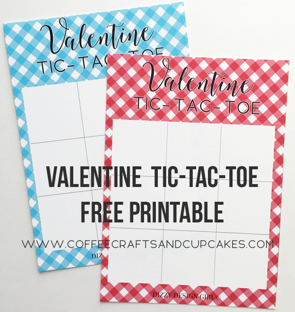 FREE VALENTINE TIC-TAC-TOE GAME coffee, crafts \ cupcakes - tic tac toe template
