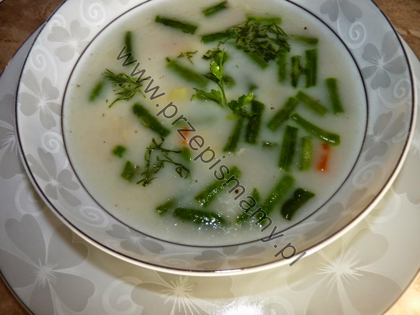 Zupa z zielonej fasolki