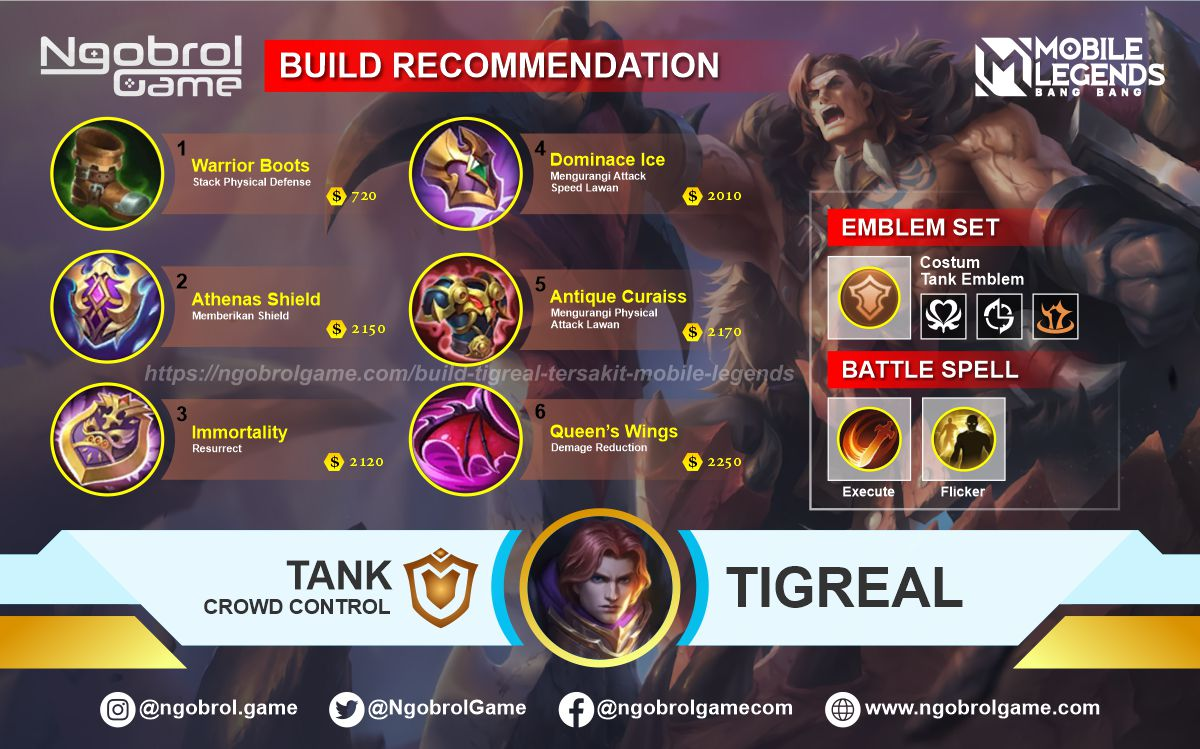 Build Tigreal Savage Mobile Legends